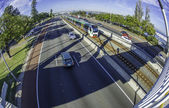 Footbridge over Freeway in Perth — Stock Photo
