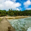 Maracas beach from the pier in Trinidad — Stock Photo