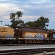 Stock Photo: Rail yards in Perth Western Australia