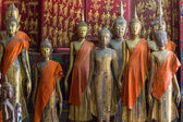 A group of buddha statues (standing) — Stock Photo