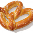 Soft Pretzel with Clipping Path - Stock Photo