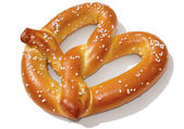 Soft Pretzel with Clipping Path — Stock Photo