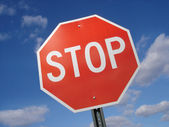 Stop Sign Against Sky — Stock Photo