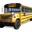 School Bus with Clipping Path — Stock Photo