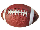 Football Isolated with Clip Path — Stock Photo