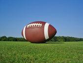 Piłka nożna na polu krajobraz — Zdjęcie stockowe