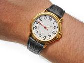 Horloge op pols — Stockfoto
