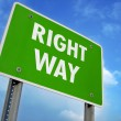 Right Way Sign — Stock Photo