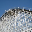 Stock Photo: Top of a Wooden Rollercoaster