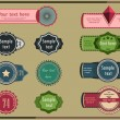11 models of labels vintage — Stock Photo