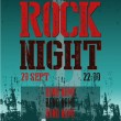 ROCK NIGHT - POSTER — Stock Photo