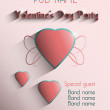 Valentine's Day Party 14 feb. Poster. vector — Stock Photo
