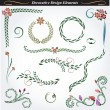 Collection of decorative design elements 10 - Stock Vector