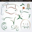 Collection of decorative design elements 9 — Stock Vector