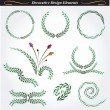 Collection of decorative design elements 11 - Stock Vector