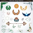Collection of decorative design elements 13 - Stock Vector