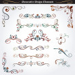 Collection of decorative design elements 4 - Stock Vector