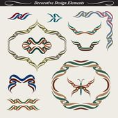 Collection of decorative design elements 1 — Stock Vector