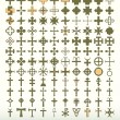 Collection of 120 classic crosses — Stock Vector