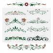Royalty-Free Stock Imagen vectorial: Floral Design, Isolated ornamental decorative Elements