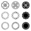 Collection of Celtic Knot patterns — Stock Vector