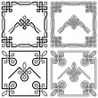 Stock Vector: Collection of Celtic corner patterns