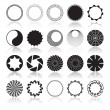 Abstract Circular Design Elements — Image vectorielle