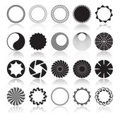 Abstract Circular Design Elements — Stockvector