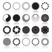 éléments de conception circulaire abstraite — Vecteur