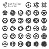 High Precision Gears Set — Stock Vector