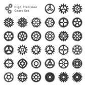 High Precision Gears Set — Stock Vector
