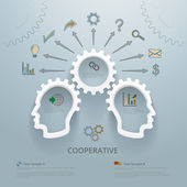 Workgroup Cooperation Infographic Concept — Stock Vector