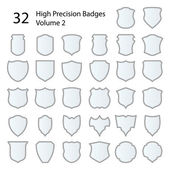 High Precision Badges Set — Stock Vector