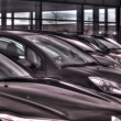 Stock Photo: Cars in showroom