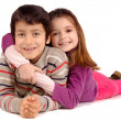 Stock Photo: Boy and girl