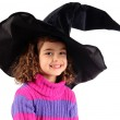Little girl in witch costume — Stock Photo