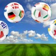 Euro 2012 group balls - Stock Photo