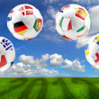 Euro 2012 group balls — Stockfoto