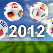 Euro 2012 group balls — Stock Photo