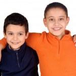 Little boys isolated on white — Stock Photo