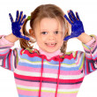 Royalty-Free Stock Photo: Five year old girl with hands painted