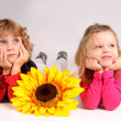Little kids posing - Stock Photo
