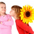 Stock Photo: Boy and girl with flower