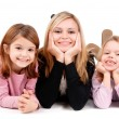 Young mom with daughters — Stock Photo