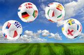 Euro 2012 group balls — Stock Photo