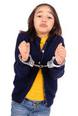 Little girl cuffed — Stock Photo