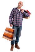 Vuxen man shopping — Stockfoto