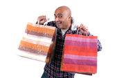 Man with bags — Stock Photo