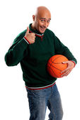 Adult man with baskettball — Stock Photo