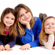 Stock Photo: Mother with daughters